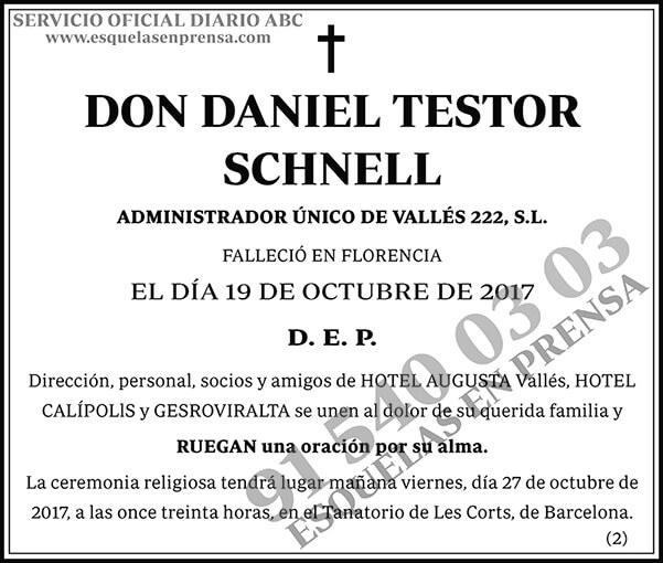 Daniel Testor Schnell